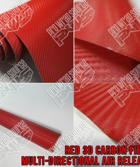 Red 3D Carbon Fiber Wrap Vinyl